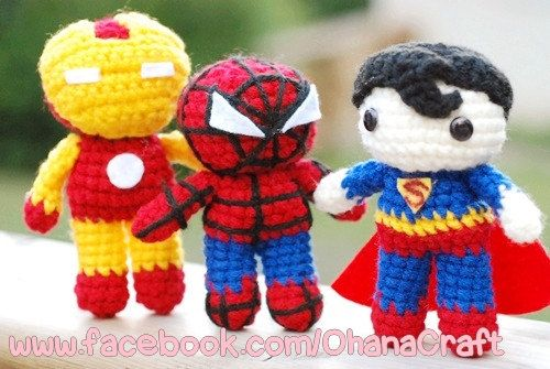 Super Heroes Crochet Amigurumi PDF Patterns Bulk set on Etsy, $16.00