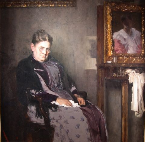 Mother Marr (Bertha), 1891, Carl von Marr, Museum of Wisconsin Art, 0018.