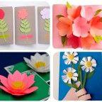 Tarjetas con flores para el Día de la Madre