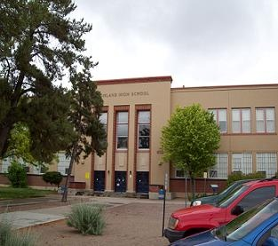 Main Building at Highland High School, which opened in 1949.