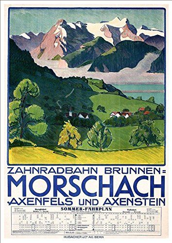 'Morschach - Switzerland' - A4 Glossy Art Print Taken From A Rare Vintage Travel Poster by Vintage Travel Posters http://www.amazon.co.uk/dp/B01BHMSNJO/ref=cm_sw_r_pi_dp_aFgTwb1G7BQZQ