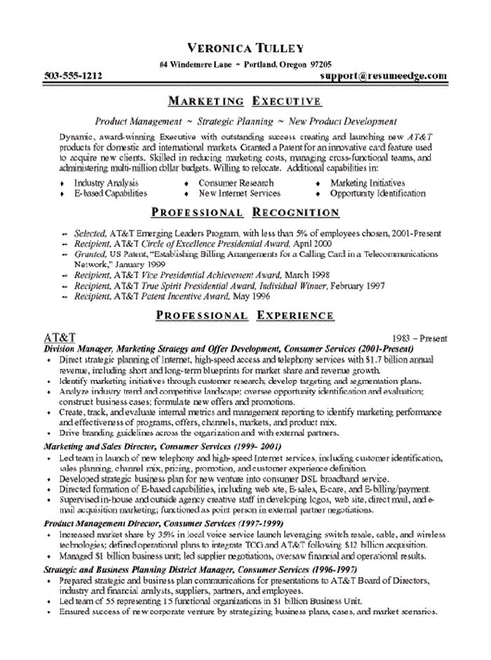 The 25+ best Executive resume ideas on Pinterest Executive - sample resume for marketing