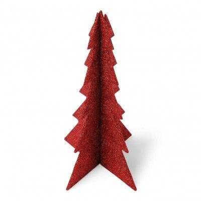 """""""Mon beau sapin... Roi des forêts....."""" Ce très joli sapin de Noël rouge pailleté sera le roi de votre table de Noël !! Le sapin mesure environ 19 cm de haut et 12 cm à sa base. Ce sapin à assembler existe aussi en or pailleté et blanc pailleté.   Idée déco : pour votre déco de table, déposez ce sapin rouge sur un joli chemin de table de Noël et associez-le à nos autres décorations de table du thème """"Noël traditionnel"""", comme les marque-places flocons, les pomme de pin pailletées dont les…"""