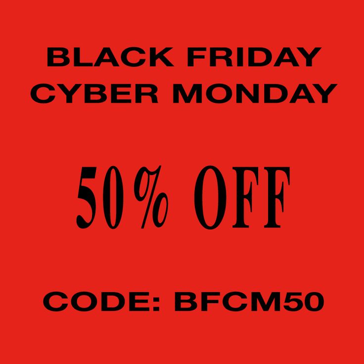 Black Friday – Cyber Monday huge sale! If you happen to follow this blog for a while you have probably noticed by now that we don't usually do this. 50% off is huge but we wanted to giv… #blackfriday #cybermonday #sales