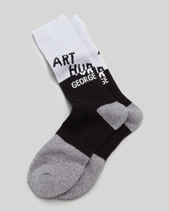 AG Swag Men\'s Socks, Black/Gray by Arthur George by Robert Kardashian at Neiman Marcus.