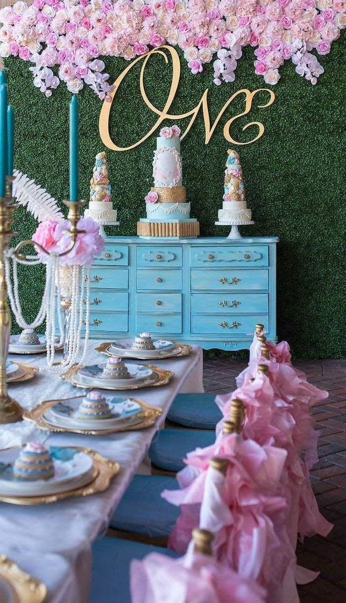 Marie AntONEette Inspired 1st Birthday Party 190