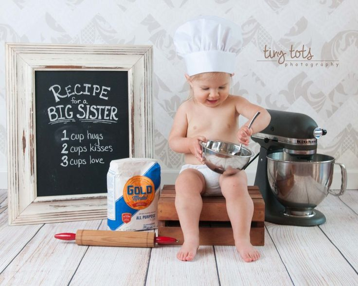 Baby Announcement - Big Sister - Tiny Tots Photography