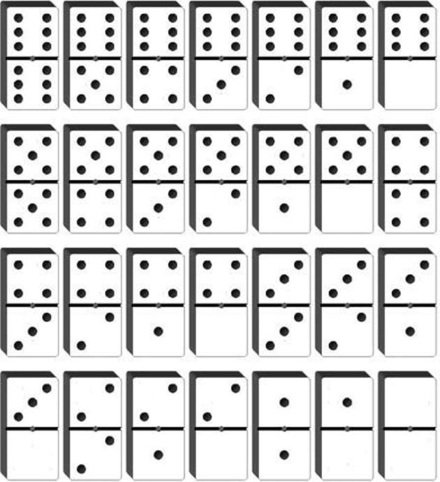 Domino para recortar - Imagui