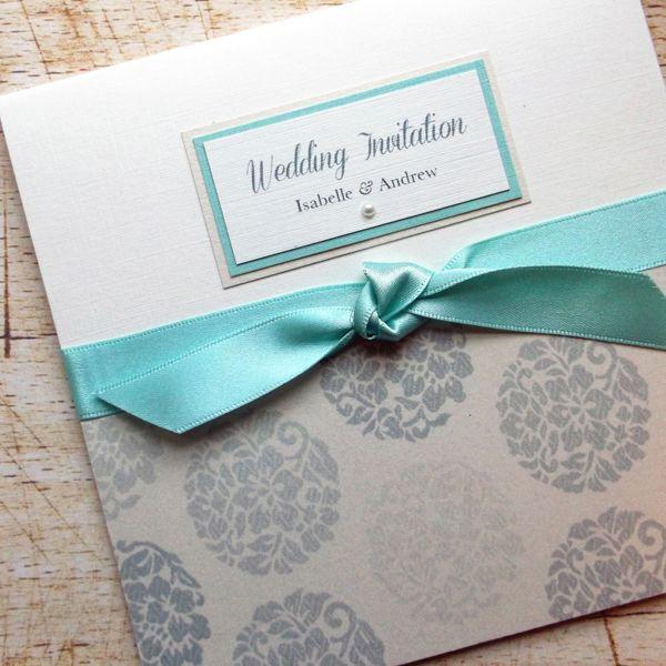 Vintage Mint wedding invitation £2.55