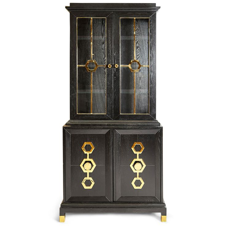 Dressers, Cabinets & Consoles - Turner Vitrine With Cabinet