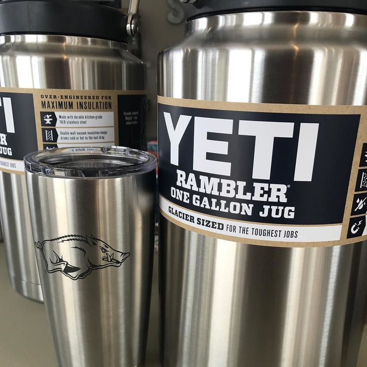 Just in time for Tailgate Season! Yeti Razorback Ramblers and Gallon Jugs. Perfect for soup chili gumbo coffee hot chocolate margaritas beer and anything else you want to keep hot or cold for your tailgate party! Come and get them at Second Elm in Downtown Rogers! . . . . . . #SecondElm #Rogersrocks #visitrogers #yeti #yeticoolers #yetirambler #gallon #tailgate #tailgateparty #outdoors #outdoor #winner #beer #chili #gumbo #soup #margerita #hotchocolate #coffee #ncaa #football