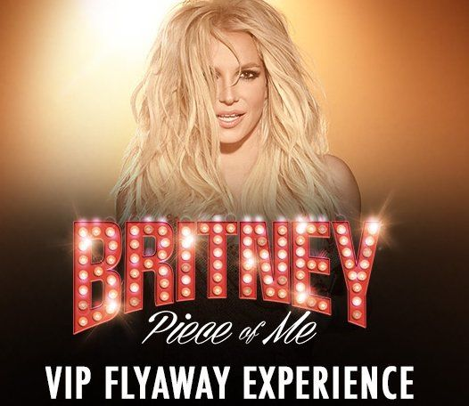 One Grand Prize consisting of one Britney Spears 'Piece of Me' VIP Flyaway Experience which includes two reserved VIP tickets to Britney Spears at The Axis at Planet Hollywood in Las Vegas, NV worth $3,300.00.