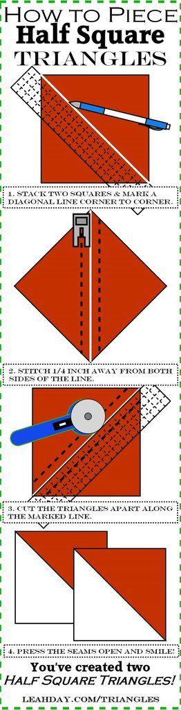 cuadrado medio diagrama de triángulos
