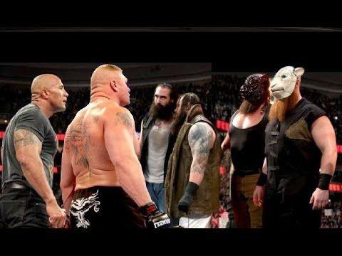 WWE Brock Lesnar & Rock vs Wyatt Family OMG 4 vs 2 Latest Killing Full M...