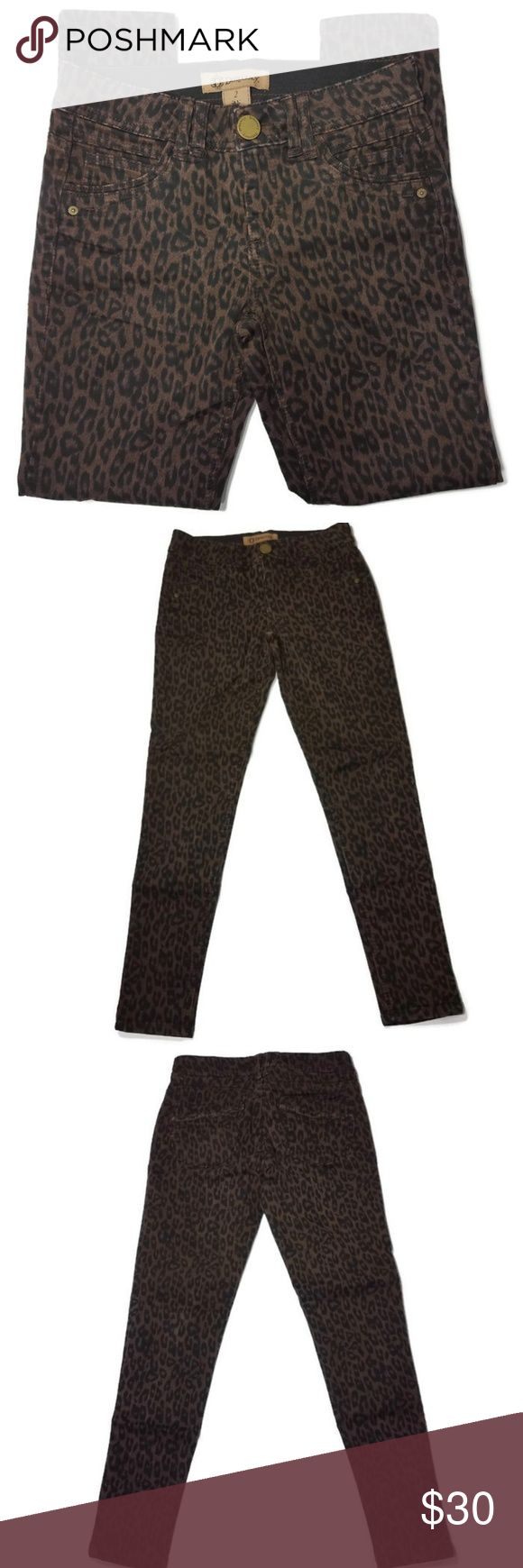 "Democracy Skinny Jeans Leopard Brown Black Ab 2 Democracy Jeans Skinny stretch jeans with ""Ab"" Technology. Wide elastic waist for slenderizing and smo…"