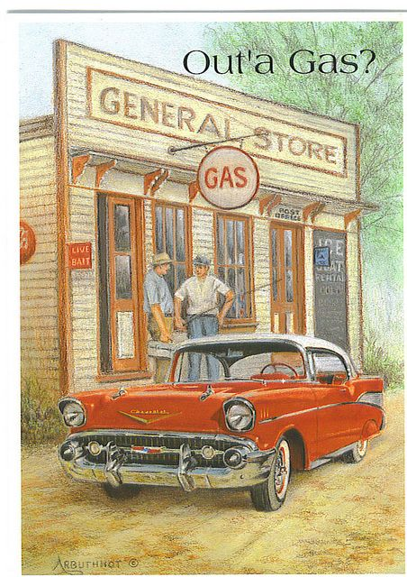 Out of Gas (Get Well card)