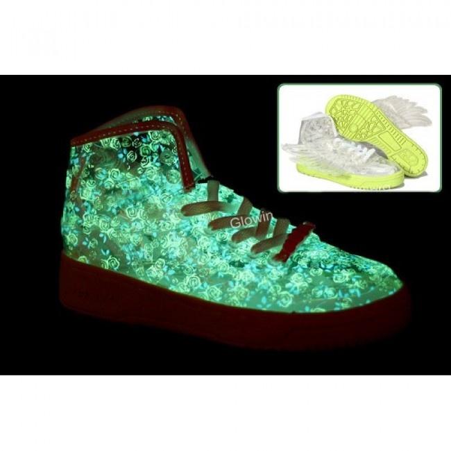 Femmes Jeremy Scott Obyo Adidas JS Clear Flower GID Wings € 101.56 http://www.jeremyscottvip.com/fr/