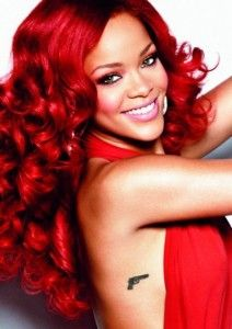 Rihanna's red hair Extensions - Available at Cliphair.co.uk.