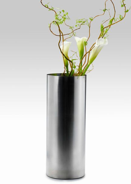 8 X 20in Stainless Steel Cylinder Vase Our Vases Pinterest