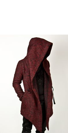 Avant Garde Unbeatable Diabolic Hood Cape Black Coat - Jackets | RebelsMarket -- I'd make the length level below the knees. Love the cut of the hood though.