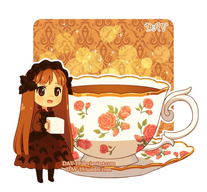 Tea-chan - design by me. ~some experiments with the designing~ My Tumblr dav-19.tumblr.com/