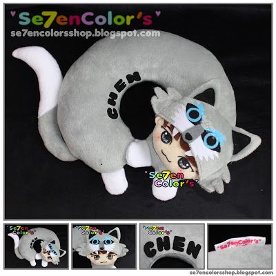 Chen of EXO -- Neck Pillow Wolf Ver.