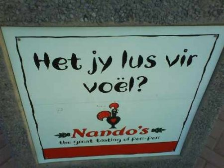 Love Nando's SA ads! Only Afrikaners will get this!