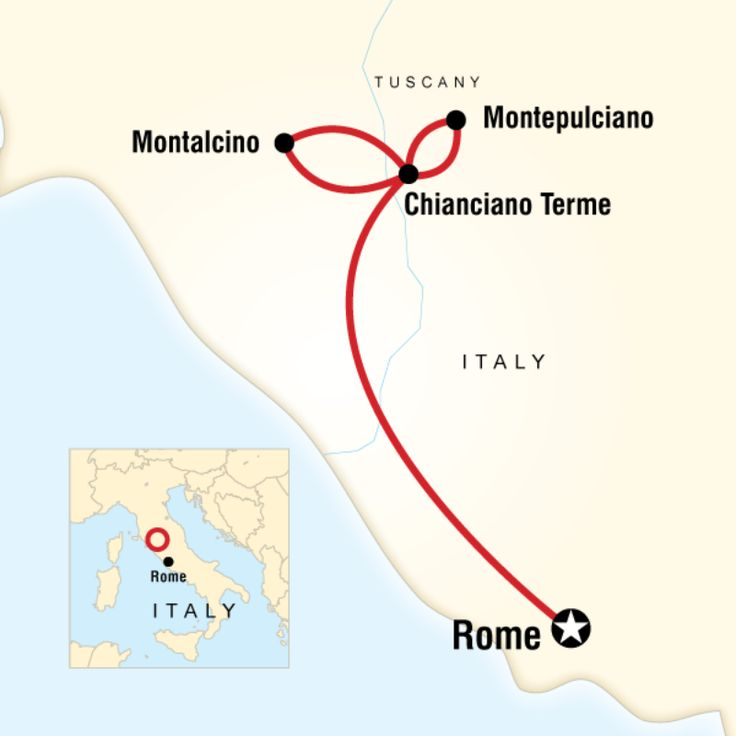 Route map for Local Living Italy - Southern Tuscany (EIST)