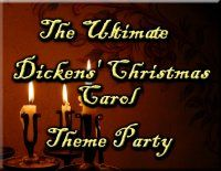 Tons of Dickens Christmas Carol theme party ideas