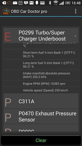 OBD Car Doctor Pro v6.0.7   OBD Car Doctor Pro v6.0.7Requirements:2.3Overview:Reads real-time and stored parameters from ECU of OBD-II compliant cars. Support data reading from cars with 2 and more ECU.  Before purchasing please check the compatibility with free version of OBD Car Doctor  Features: Common: - real-time engine and vehicle parameters: speed rotation temperature pressure lambda and multiple other sensors data supported by your car - chart drawing for real-time data - check…