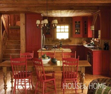 Photo Gallery Winter Cottages Primitive Kitchen Cabinetscountry