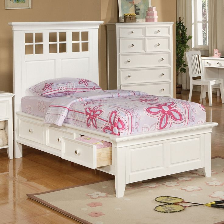 Del Mar Twin Size Storage Bed Modern Design Furniture
