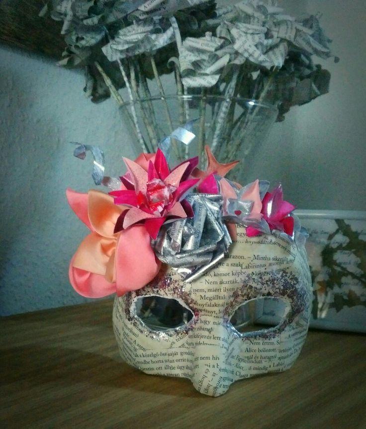 Paper mache mask.