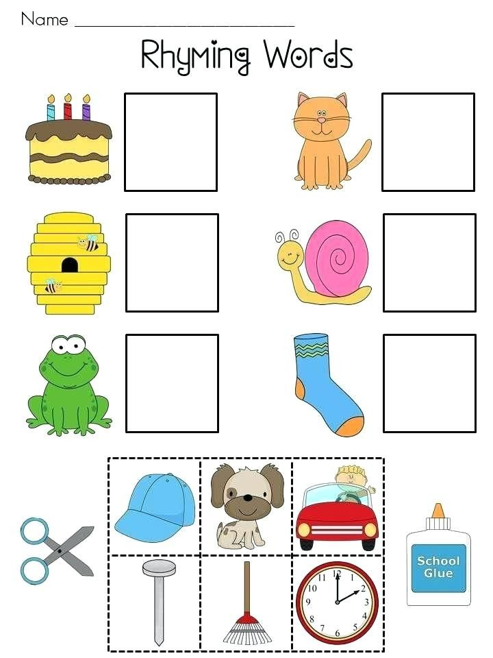 Pin On Printable Worksheet For Kindergarten Free kindergarten worksheets on rhyming