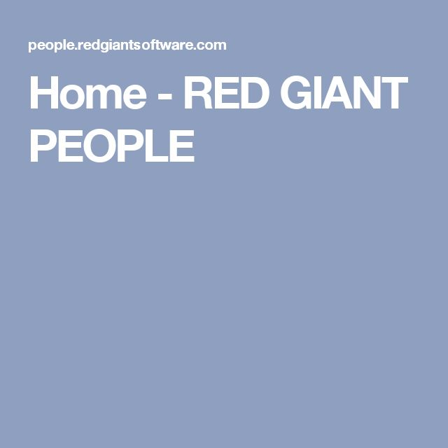 Home - RED GIANT PEOPLE