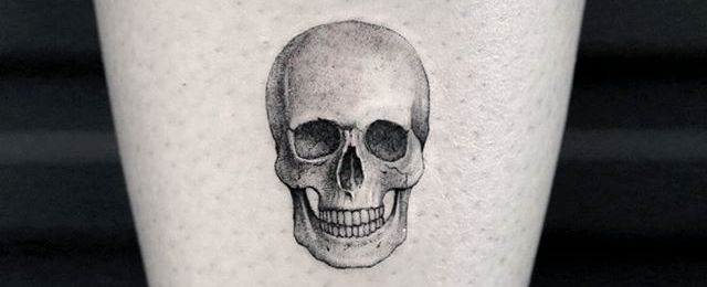 50 Small Skull Tattoos For Men – Mortality Design Ideas #Men_s_Style_And_Fashion