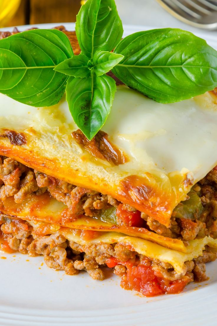 2. Lasagna with Meat Sauce