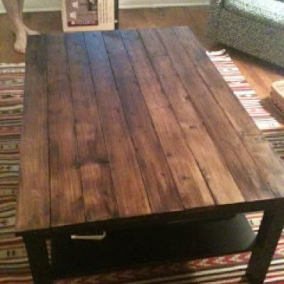 DIY Rustic Wood Table! And I already have the exact same ikea