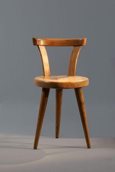 Charlotte Perriand, Oak Chair from the l'Equipement de la Maison Series by BCB, 1947.