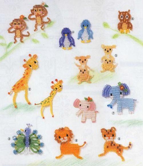 flat beaded animal patterns bead animals