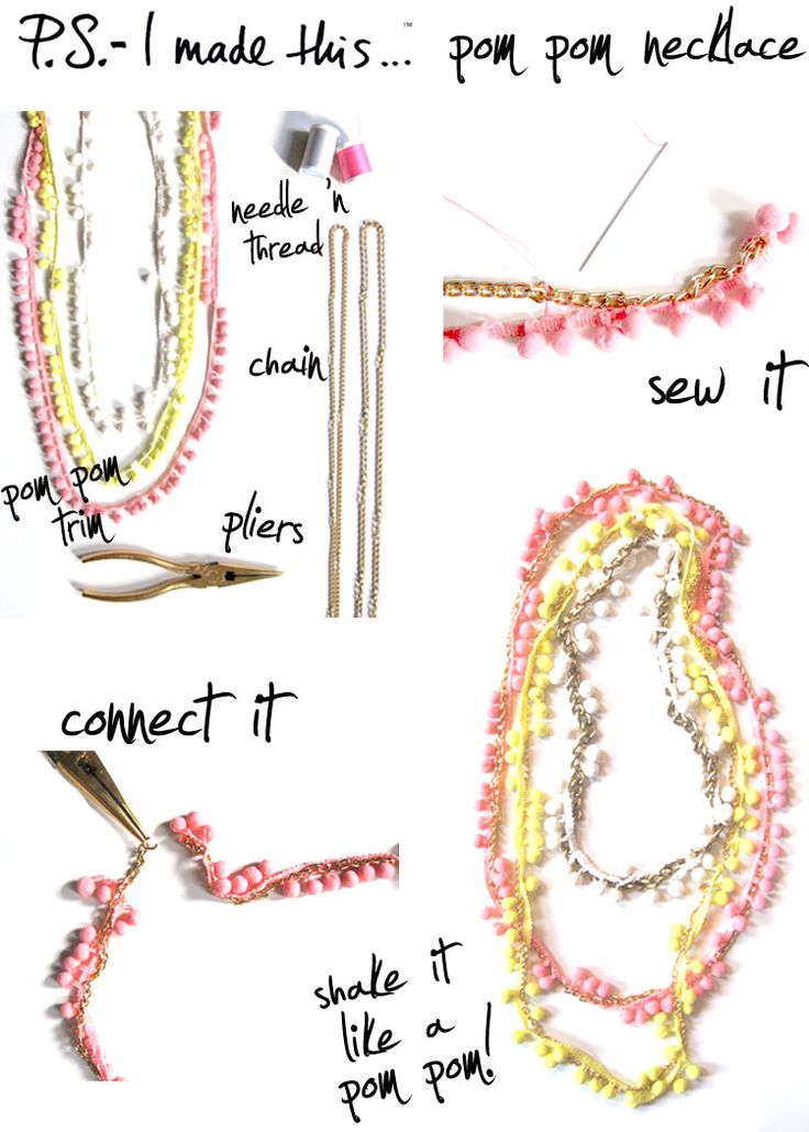 Pom Pom Necklace    http://psimadethis.com/post/555895121/to-pom-or-not-to-pom-theres-no-question-about