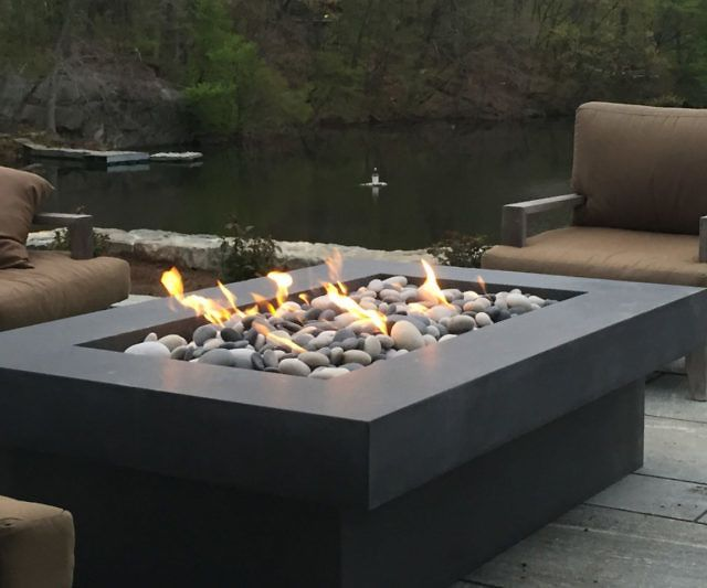 olson concrete fire pit table fire tables moveis. Black Bedroom Furniture Sets. Home Design Ideas