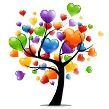 Heart Tree...........love the colors!! See My Art https://www.facebook.com/ZRFractals My Website http://www.craftweb.org