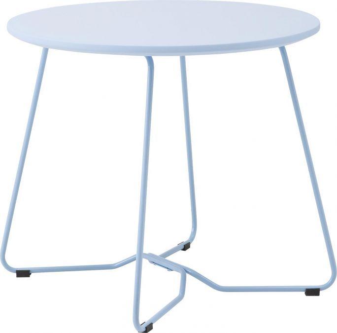 50x44 Bijzettafel Lucido is een bijzondere blauwe bijzettafel. Met een MDF blad en gepoedercoated onderstel is hij leuk als decoratie met een leuke vaas erop of is hij er makkelijk bij te pakken om te gebruiken als compacte salontafel.