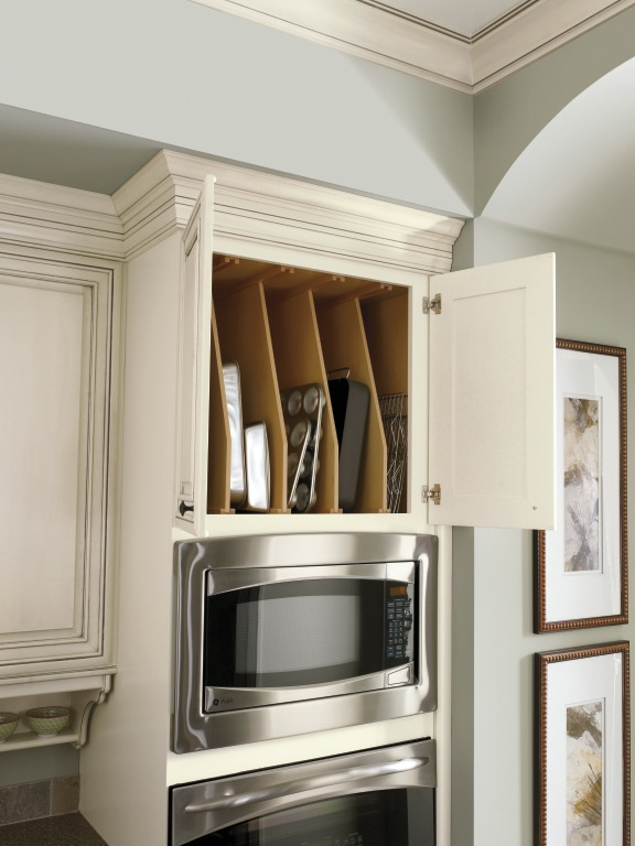Diamond 39 s tray divider cabinet keeps cookie sheets - Vertical tray dividers kitchen cabinets ...