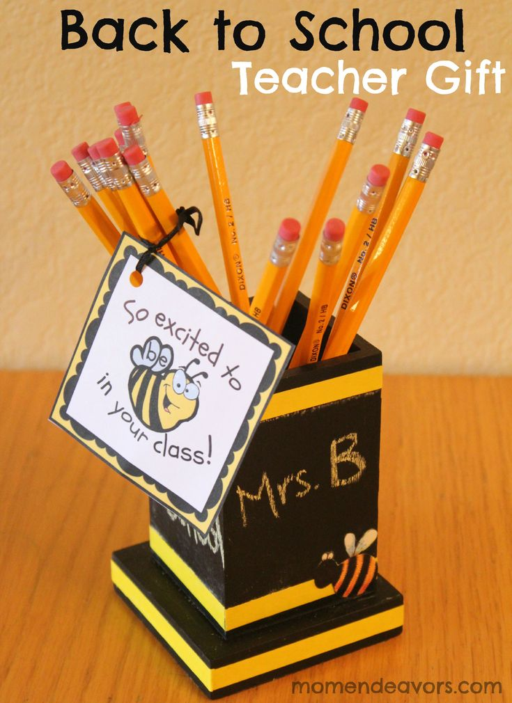 Back to School Teacher Gift {1st day of Kindergarten} via Mom Endeavors