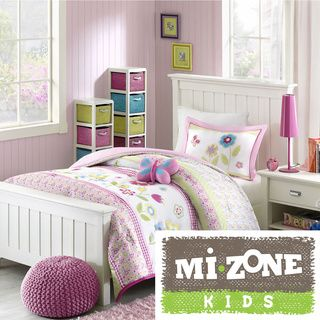 Mizone Kids Flower Power 4-piece Comforter Set | Overstock.com Shopping - The Best Prices on Mi-Zone Kids' Comforter Sets
