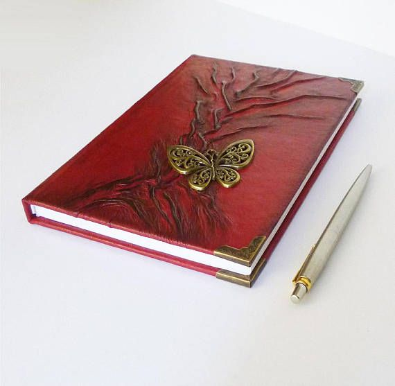 Red Journal Leather Gift for Women Diary Writing Journal