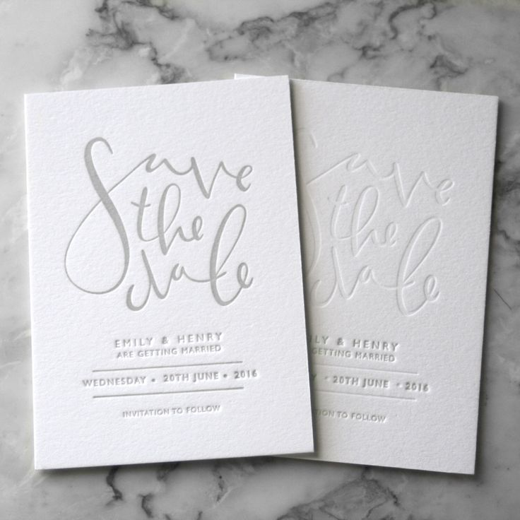 Letterpress Save the Date Invites (50 Pieces) by TankervillePress on Etsy https://www.etsy.com/au/listing/255728189/letterpress-save-the-date-invites-50