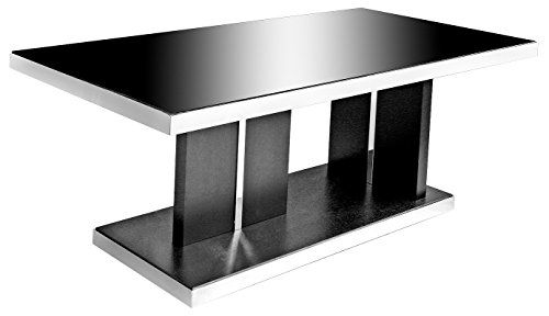 Twilight Black Glass Eating Table comes with a luxurious black glass most…